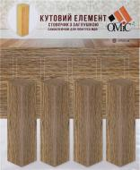 Комплект куточків МДФ ОМіС дуб натуральний коричневий 25х80х25 мм