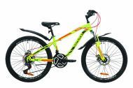 """Велосипед 24"""" Discovery Flint AM DD з крилом Pl салатово-червоний із хакі OPS-DIS-24-160"""