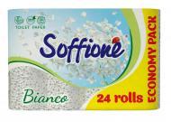 Туалетний папір Soffione Natural Bianco тришаровий 24 шт.
