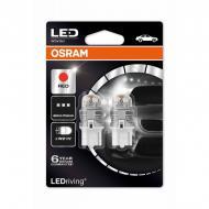 Автолампа диоды OSRAM 7905R Premium W21W 12V W3X16d RED 2pcs. blister