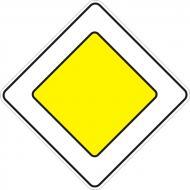 Знак дорожній Головна дорога 2.3 600 мм