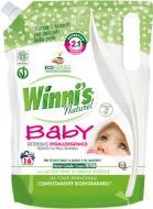 Рідкий порошоккондиціонер-ополіскувач Winni's naturel Lavatrice Baby Гель для прання + ополіскувач 2 в 1 0,8 л