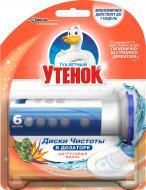 Засіб для чищення Туалетный утенок Цитрусовий Вихор з дозатором 38 г 6 шт./уп.
