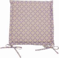 Подушка на стілець Ажур Лаванда з вушками 40x40 см Прованс Классик