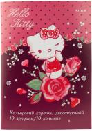Картон кольоровий двосторонній А4 10 аркушів Hello Kitty HK19-255 KITE