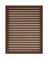 Решітка радіаторна ОМіС 600х300 мм коричнева