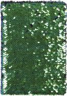 Книга для нотаток Паєтки А5 96 аркушів чорно-зелена