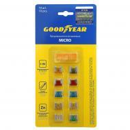 Запобіжники Goodyear прапорцеві «мікро» 10 шт. + екстрактор GY003050