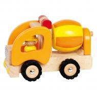 goki Машинка деревянная Бетоносмеситель (желтый) 55926G