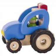 goki Машинка деревянная Трактор (синий) 55928G