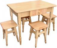 Комплект стіл і стілець бук світлий