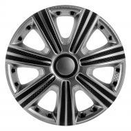 Ковпак для коліс STAR DTM Super Silver R15 4 шт. чорний/срібний