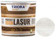 Лазурь Triora акриловая для древесины белый шелковистый глянец 0,75 л