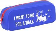 Пенал силіконовий SP180521 I want to walk синій