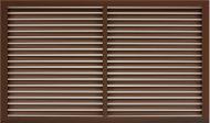 Решітка радіаторна ОМіС 600x1200 мм коричнева
