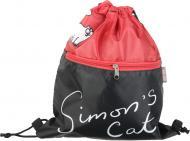 Сумка для взуття Саймон червоно-чорна Simon's Cat