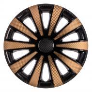 Ковпак для коліс STAR Карат Super Black GOLD R15 4 шт. мікс