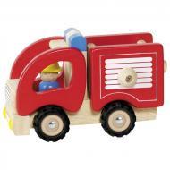 Машинка деревянная goki Пожарная красный 55927G