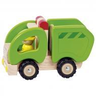 Машинка деревянная goki Мусоровоз зеленый 55964G