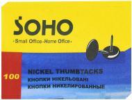 Кнопка Soho DT3 100SH нікельовані 100 шт