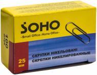 Скріпки 25 мм 100 шт овальні Soho