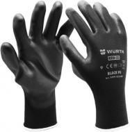 Рукавицы WURTH Black PU с покрытием полиуретан L (9) 0899402409