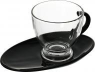 Чашка 230 мл с черным блюдцем Glasmark