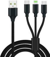 Набір для зарядки пристроїв 4 в 1 чорний WKIT (Android та iPhone 5)