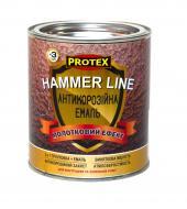 Эмаль Protex антикоррозийная молотковая Hammer Line серый дымчатый шелковистый глянец 0,7л