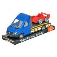 Автомобиль Tigres Mercedes-Benz Sprinter эвакуатор на планшете синий (39709)