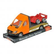 Автомобиль Tigres Mercedes-Benz Sprinter эвакуатор на планшете оранжевый (39710)