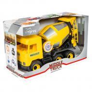 Машинка игрушечная Wader Middle Труск Бетономешалка желтая (39493)