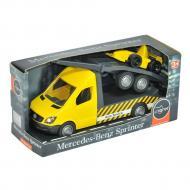 Автомобіль Tigres Mercedes-Benz Sprinter евакуатор з лафетом жовтий (39741)
