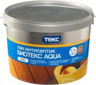 Лак-антисептик ТЕКС Биотекс Aqua шелковистый мат махагони 9 л