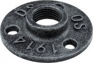 Фланец DC для трубы d-19 мм черный ретро