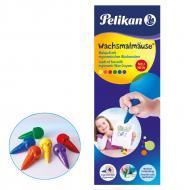 Олівці воскові Mouse 6 кольорів 804073 Pelikan