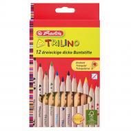 Олівці кольорові Jumbo Trilino 12 кольорів потовщені 10412062 Herlitz