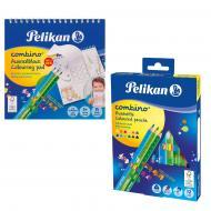 Набір Combino кольорові олівці 12 шт. + розмальовка 812726 Pelikan