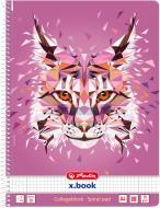 Блокнот Wild Animals Рись А4 80 арк. 50027781 Herlitz