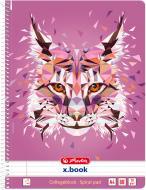 Блокнот Wild Animals Рись А4 80 арк. 50027828 Herlitz