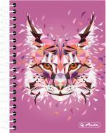 Блокнот Wild Animals Рись 10x14 см 200 арк. 50027866 Herlitz