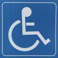Наклейка TERRAPLUS Инвалид синяя