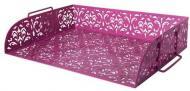 Лоток для паперів горизонтальний Barocco 338х248х70 мм рожевий Buromax