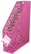 Лоток для паперів вертикальний Barocco 320х250х75 мм рожевий Buromax