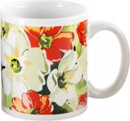 Чашка Цветы 330 мл Оселя