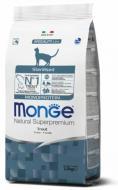 Корм Monge Cat Monoprotein Sterilized Trota, 1,5 кг