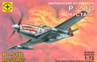 Збірна модель Modelist американський винищувач P-51D Мустанг 1:72 207208