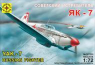 Збірна модель Modelist радянський винищувач Як-7 1:72 207235