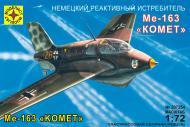 Збірна модель Modelist німецький реактивний винищувач Ме-163В Комета 1:72 207254