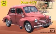 Збірна модель Modelist автомобіль Рено 4CV 1:43 604316